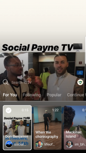 IGTV - Channel example