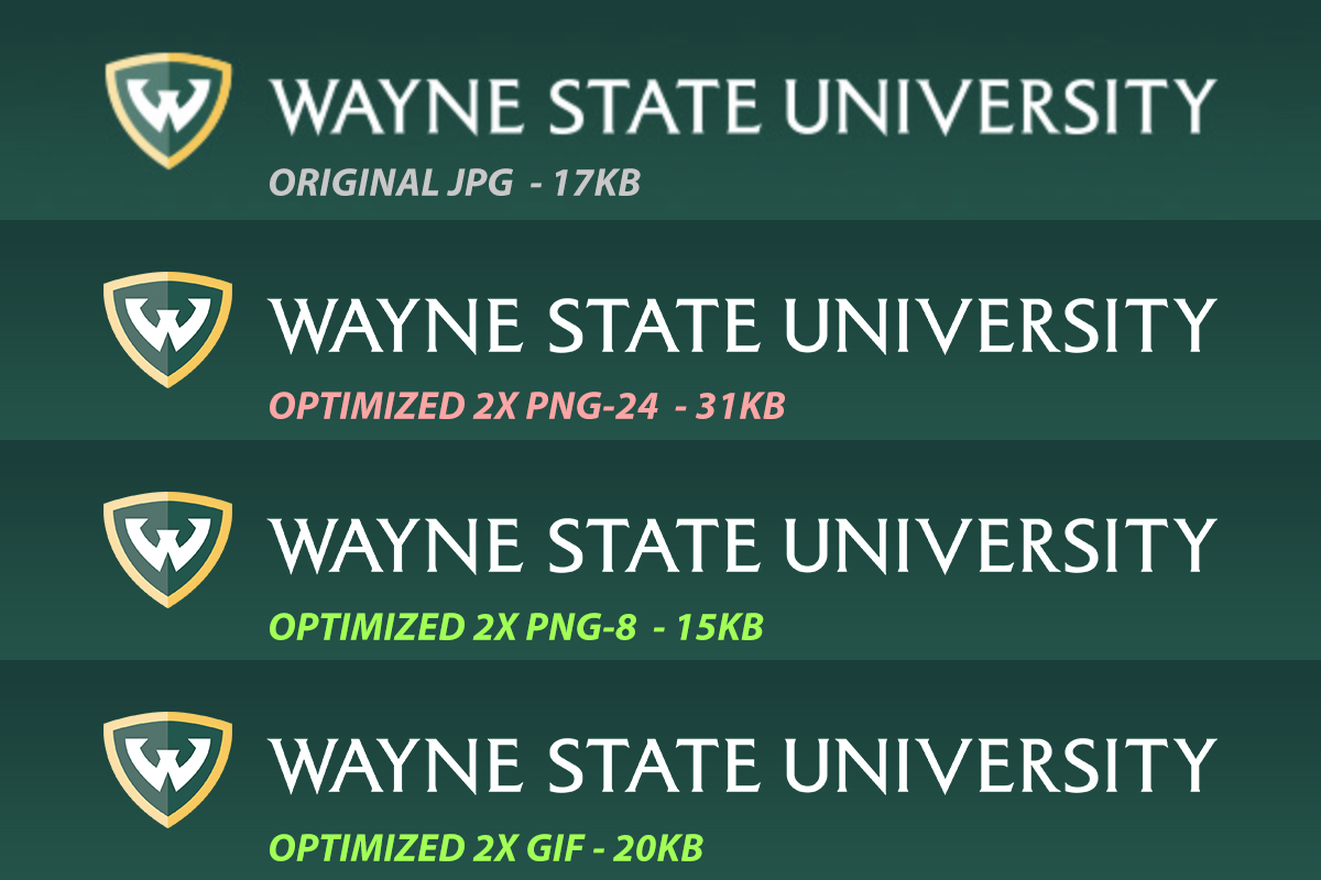 Wayne State University HTML email header graphic